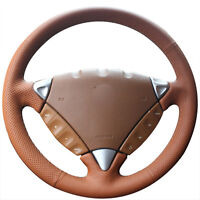 Top Leather Steering Wheel Hand-stitch on Wrap Cover For Porsche Cayenne 2007-10