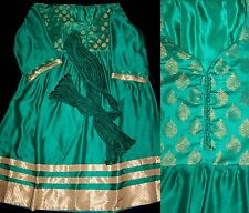 GREEN ANARKALI SALWAR KAMEEZ SUIT UPTO READY SIZE 60 DRESS MATERIAL LADIES DEN