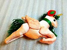 Vintage Stuffed Satin Ornament Unicorn Pegasus Fantasy Pony Horse Ctesias Legend