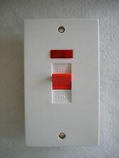Interruttore Fornello, Doccia Interruttore Con Neon 45 Amp si adatta standard TWIN tipo box per ottenere