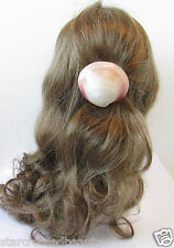 Véritable mer coquille Pince à cheveux barrette Mermaid Beach Ivoire Rose Vintage Boho 20s R65