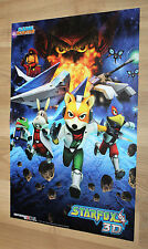 Star Fox 64 3D / Sonic Generations Rare small Poster 42x28cm Nintendo 3DS PS3