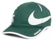 Michigan State Spartans MSU FEATHERLIGHT Nike Big Swoosh Aerobill Adj CAP Hat