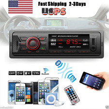Car In-Dash Stereo Audio Bluetooth Receiver USB MP3 Music Player Radio Aux FM