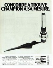 PUBLICITE ADVERTISING 027  1980   bougies Champion  pour Concorde & Airbus
