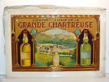 Rare plaque tôle litho Liqueurs Grande Chartreuse - Très bel état !!
