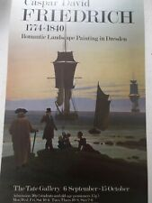 70s TATE.Gallery London Caspar David Friedrich 1774-1840 EXHIBITION POSTER Rare