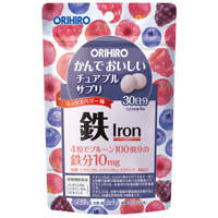 ☀Orihiro chewable supplement iron 120 tablets mix berry flavor From Japan F/S