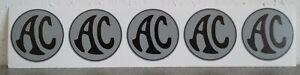 AC Ace, Bristol, Greyhound Cobra Aufkleber Silber/Grau Sticker 50 mm Silver/grey