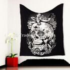 Dead Skull Wall Hanging Tapestry Black & White Wall Art Decorative Tapestry