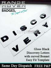 "Land rover ""DISCOVERY"" 3D Bonnet Letters Badges Letterings GLOSS BLACK 3 4 HOOD"
