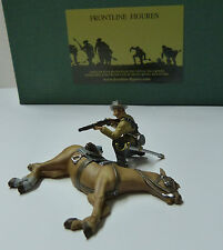 Frontline Figures, ACW Südstaaten Soldat schießend hinter gefallenem Pferd, RC25