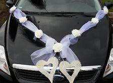 Autoschmuck Autogirlande weiß Hochzeit  Autogesteck Dekoration Brautauto NEU
