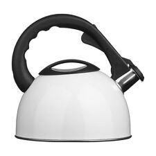 Whistling Kettle, White/Stainless Steel, 2.5Ltr