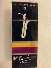 5 Vandoren Blätter für Bariton-Saxophon Stärke 4  -  Lagerabverkauf