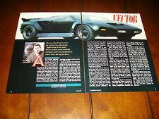 1990 VECTOR SUPER CAR JERRY WIEGERT  ***ORIGINAL ARTICLE***