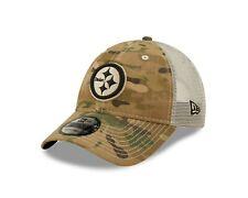 Pittsburgh Steelers New Era Camo Mesh Trucker 9Twenty Adjustable Snapback hat