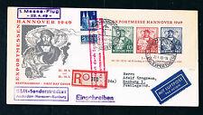 Bizone Bl.1, Hannover-Messe auf FDC und KLM-Sonderstrecke, 1.Flug als R.-Brief