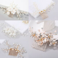 Wedding Bride Hair Jewelry Leaves Tiara Bridal Clips Flower Hair Pin Hair Combs