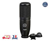 AKG P120 Microphone de Studio Statique Cardioïde, Noir, micro à condensateur
