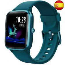 Reloj Inteligente Mujer Hombre, Smartwatch con Pulsómetro, Pulsera  (verde)