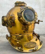 """Antique Boston Diving Scuba Divers US Navy 18"""" Vintage Marine Divers Deep Helmet"""