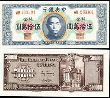 CINA 500.000 GOLD UNITA 1947 FDS