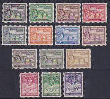 Turks & Caicos Islands 1938 Mint MLH 14 values Definitives  Salt Industry KGVI