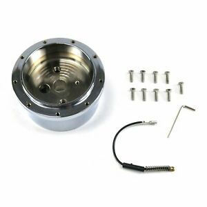"""9 Hole to 3/4""""-36 Steering Wheel Hub Adapter GM Column Buick Caddy Olds V8"""