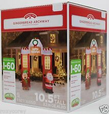 Gemmy 10.5 ft Tall Lighted Gingerbread Archway Airblown Inflatable NIB