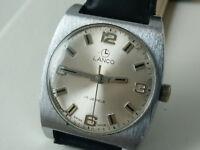 Vintage Lanco 17 Jewels Swiss Made Mechanical Mens Watch 1960'