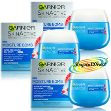 3x Garnier Moisture BOMB Night Face Gel Cream Moisturiser 50ml