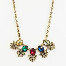 Pineapple Fruit Bib Pendant Necklace Jewelry Multicolor Crystal Antique Design