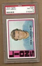 1972  TOPPS  FOOTBALL  DICK  LEBEAU  #  335    PSA  8