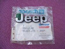 NOS MoPar 1984 1985 Jeep Cherokee Wagoneer HOOD NAMEPLATE 55052502