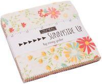 "Sunnyside Up Moda Charm Pack 42 100% Cotton 5"" Precut Fabric Quilt Squares"