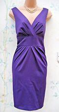 Size 10 Pencil Wiggle Galaxy Cocktail Satin Purple Party Eve Dress ~ US 6 EU 38