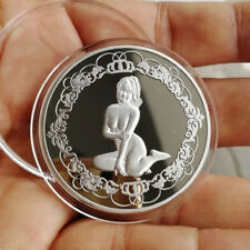 Naked, Sexy Japanese Girl 1 Troy oz .999 Fine Silver Round Bullion Coin  NEW!