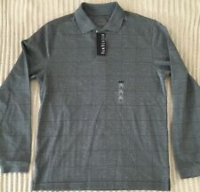 Van Heusen Mens Long Sleeve Polo Style light weigh sweater size Small gray