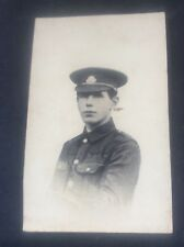 Old RPPC British Police or Army Military History Portrait in Uniform 2