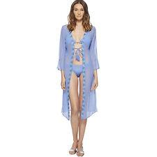 Letarte Luxury Swimwear Tie-Front Georgette Cover-Up XS Beach Swim