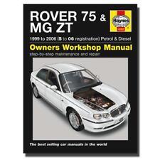 Haynes Manual Rover 75/MG ZT, Petrol/Diesel (S -06) Workshop Manuals, Book 4292