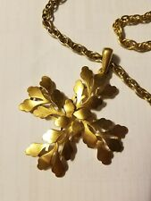 vintage crown trifari Runway piece gold tone heavy chain d3