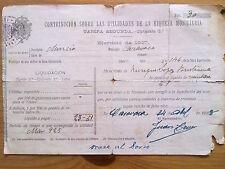 DOCUMENTO CONTRIBUCION MUNICIPAL MURCIA.CARAVACA,MORATALLA,1927.