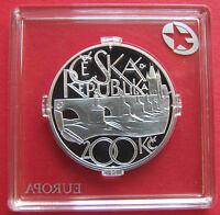Tschechien Tschechische Republik 200 Kronen 2007 Silber PP Karlsbrücke