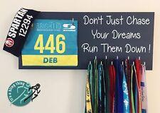 Don't just chase  - Runner / Sports Medal & Bib hanger / holder /display