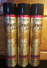 X3 L'Oreal Elnett Satin Extra Strong Hold Color-Treated Hair Hairspray 11oz