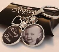 Personalised Photo Keyring - Belongs to - Fathers Day Present Birthday Gift Box