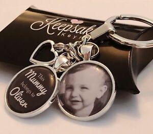 Personalised Photo Keyring - Belongs to - Christmas Present Birthday Gift Box