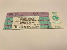 RARE ROLLING STONES 1994 ORIGINAL UNUSED CONCERT TICKET GIANTS STADIUM NJ